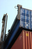 Cargo. Photography of cargo containers in harbour Royalty Free Stock Image