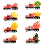 Cargo. Transporting food concept - studio isolated Royalty Free Stock Images