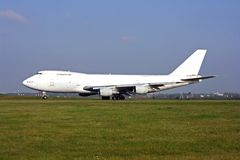 Cargo aircraft. Just before taking off Royalty Free Stock Photography