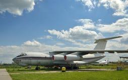 Cargo aircraft in the airfield Stock Photos