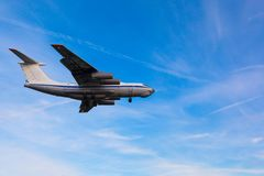 Cargo aircraft is landing Royalty Free Stock Images
