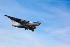 Cargo aircraft is landing Stock Photography