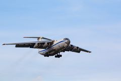 Cargo aircraft is landing Royalty Free Stock Photo