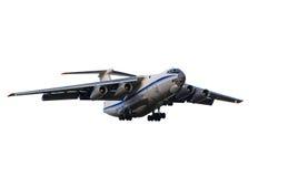 Cargo aircraft is landing stock photos