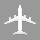 Cargo aircraft. Top view. Vector illustration. EPS 10, opacity royalty free illustration