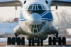 Cargo airliner. Close up of a taxiing cargo airliner Stock Photos