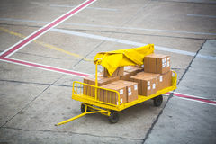 Cargo for an airplane stock photography