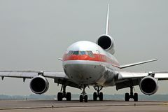 Cargo airplane. Ready to take off Royalty Free Stock Images