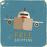 Cargo airplane made of cardboard box Royalty Free Stock Photos