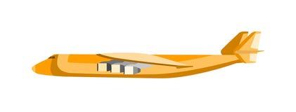 Cargo airplane vector illustration. Stock Photos