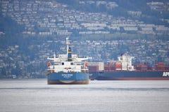 Cargo alla rinfusa di Ermione ancorato a Vancouver, Canada Immagini Stock