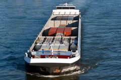 Cargo barge Royalty Free Stock Photo