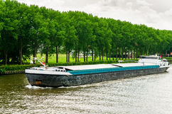 Cargo Barge on a Canal Royalty Free Stock Photography