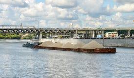 Cargo barge Royalty Free Stock Image