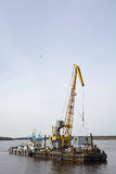 Cargo barge Royalty Free Stock Images