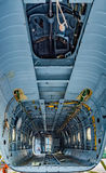 Cargo bay of the helicopter without details Royalty Free Stock Image