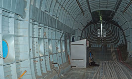 Cargo bay of Mil V-12 helicopter. MONINO, RU - MAY 9: the cargo bay of Mil V-12, the largest helicopter in the world demonstrated in the Central Airforce Museum Stock Image