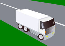 Cargo blanco del camión foto de archivo