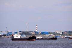 Cargo boat Stock Photo