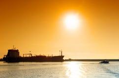 Cargo boat. in Port la nouvelle harbor Stock Images