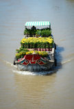 A cargo boat on river in Mekong Delta, Vietnam Royalty Free Stock Image