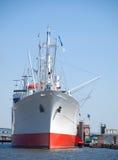 Cargo boat, ship parking at the berth Royalty Free Stock Photo