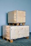 Cargo box stock image