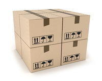 Cargo box Royalty Free Stock Images