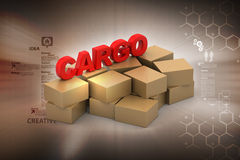 Cargo boxes Royalty Free Stock Images