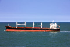 Cargo bulker ship sailing in sea Royalty Free Stock Photo