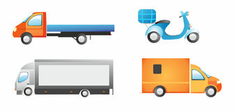 Cargo cars set. Cargo cars set in bright colors Stock Images