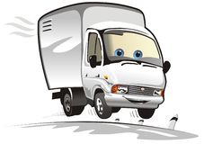 cargo cartoon delivery truck vector Στοκ Φωτογραφία
