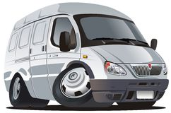 cargo cartoon delivery truck vector Στοκ Φωτογραφίες