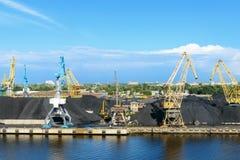 Cargo coal terminal at Baltic sea Royalty Free Stock Images