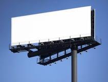 Cargo com os quadros de avisos sobre o fundo do céu azul fotografia de stock royalty free