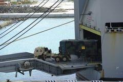 Cargo coming off the ship Royalty Free Stock Photos
