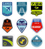 Cargo Company Logos. Nine logos of international cargo and mail companies Stock Photos