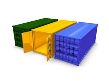 Cargo container Royalty Free Stock Photos