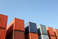 Cargo container. And blue sky Royalty Free Stock Photos