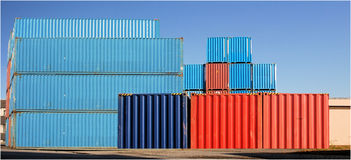 Cargo Container. Assembly of cargo container in a harbour Stock Photography