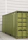 Cargo container. Background for trading, transportation, storage or globalization Royalty Free Stock Image