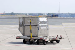 Cargo container at airport Royalty Free Stock Photography