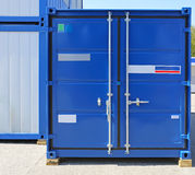 Cargo Container. Blue Cargo Container Ready for Shipping Royalty Free Stock Image