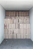 Cargo Container with Boxes Royalty Free Stock Photos