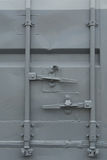 Cargo container. Closed doors detial Royalty Free Stock Images