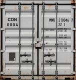 Cargo Container. Closed Doors Front view Stock Photos