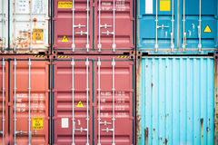 Cargo container closeup Royalty Free Stock Photo