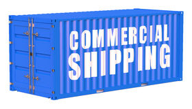 Cargo container, comercial shipping concept Stock Photo