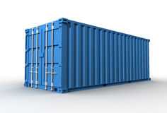 Cargo container concept   3d illustration Royalty Free Stock Image