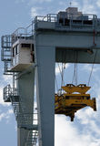 Cargo container crane. Crane to lift cargo containers off ships stock photo
